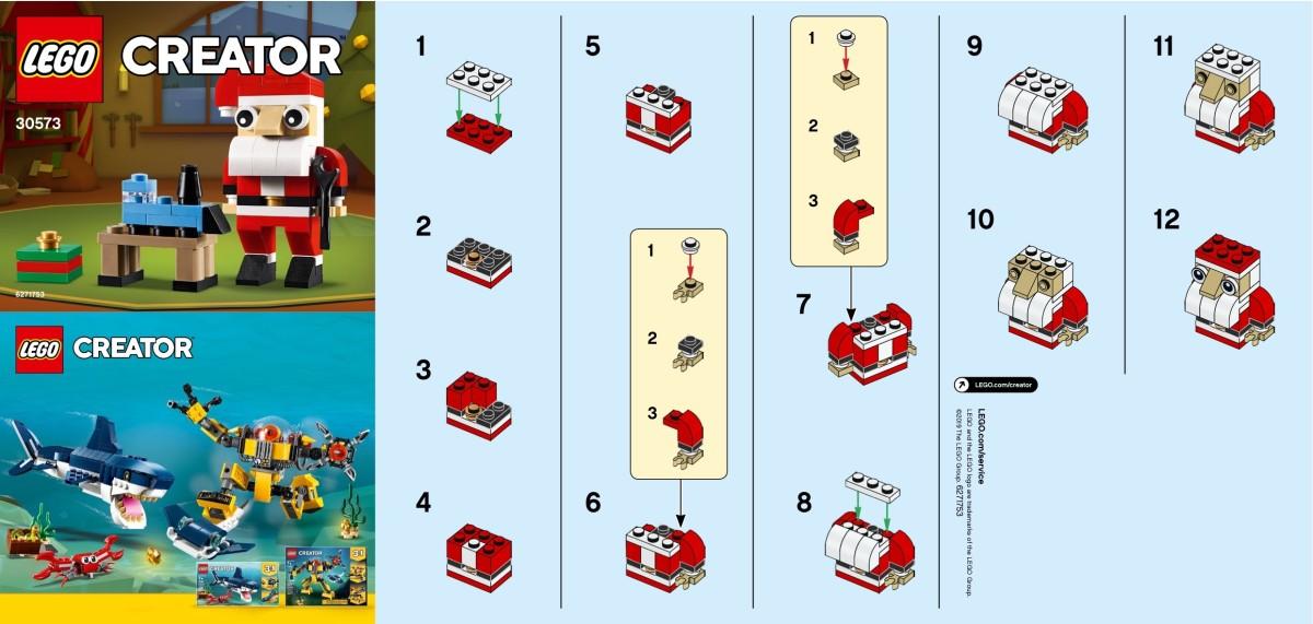 LEGO Creator Santa 30573 Instructions Page 1