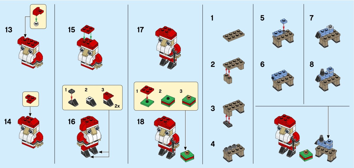 LEGO Creator Santa 30573 Instructions Page 2