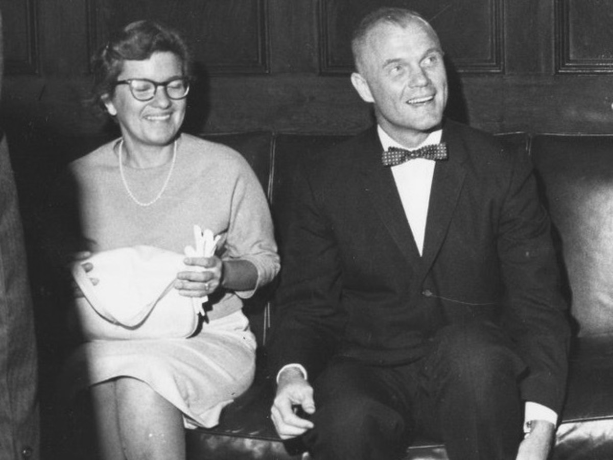 Vera Rubin with astronaut John Glenn.