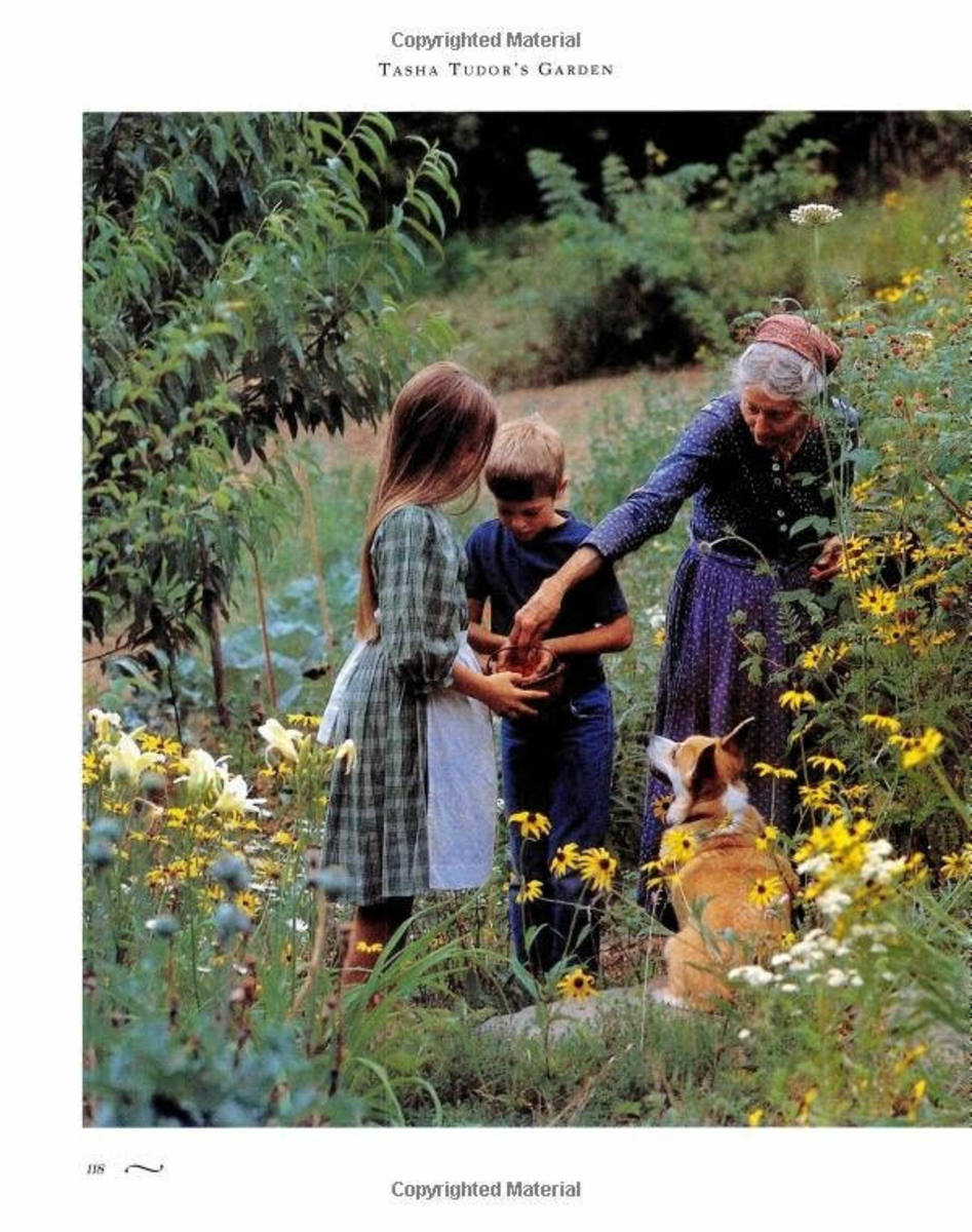 I didn't discover Tasha Tudor until I was an adult, but she seems very much like Miss Dorothy, a woman of my young imagination.