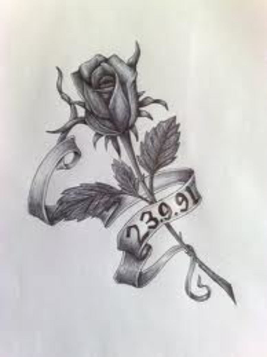 The rose is another design popular among women.