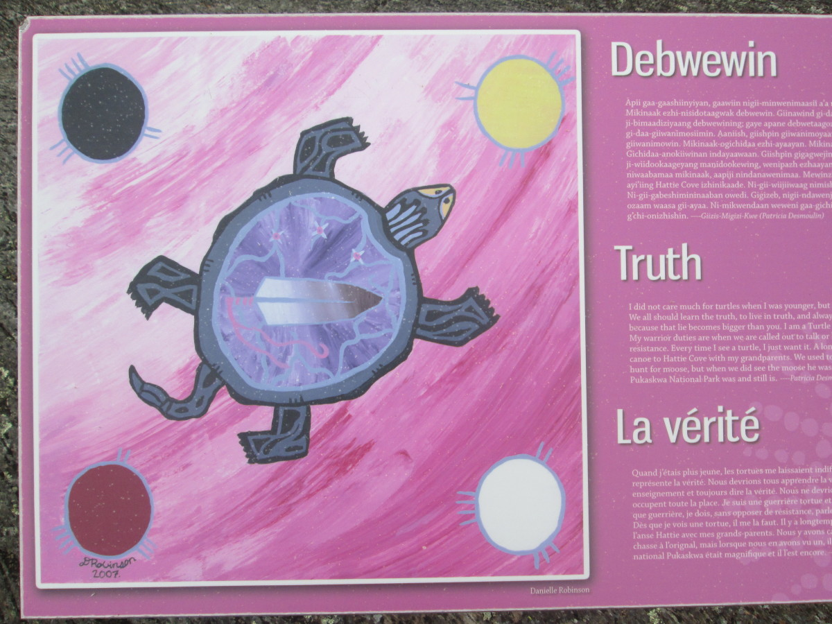 """""""Truth"""" is one of the """"Seven Grandfather Teachings"""" for the Ojibwa people here in Canada."""