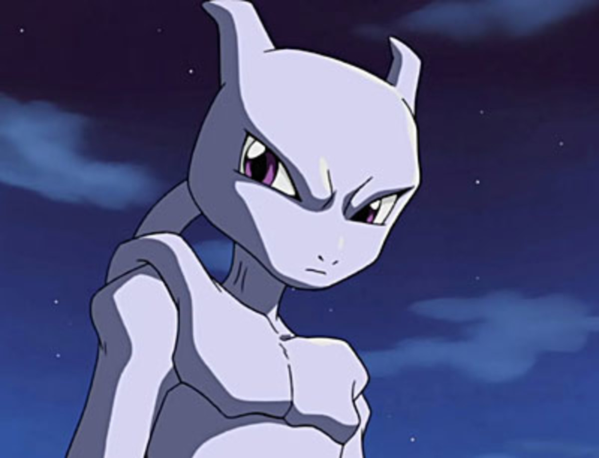 Mewtwo as seen in the Anime Series