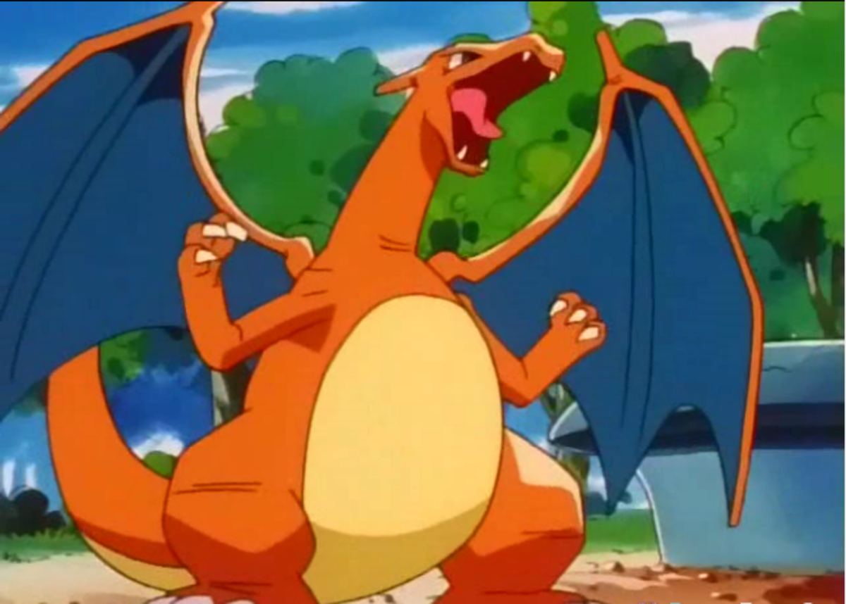 Charizard as seen in the Anime Series