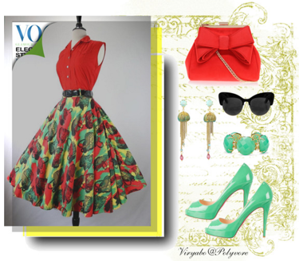 50s Vintage Style Clothing with Modern Fashion Accessories