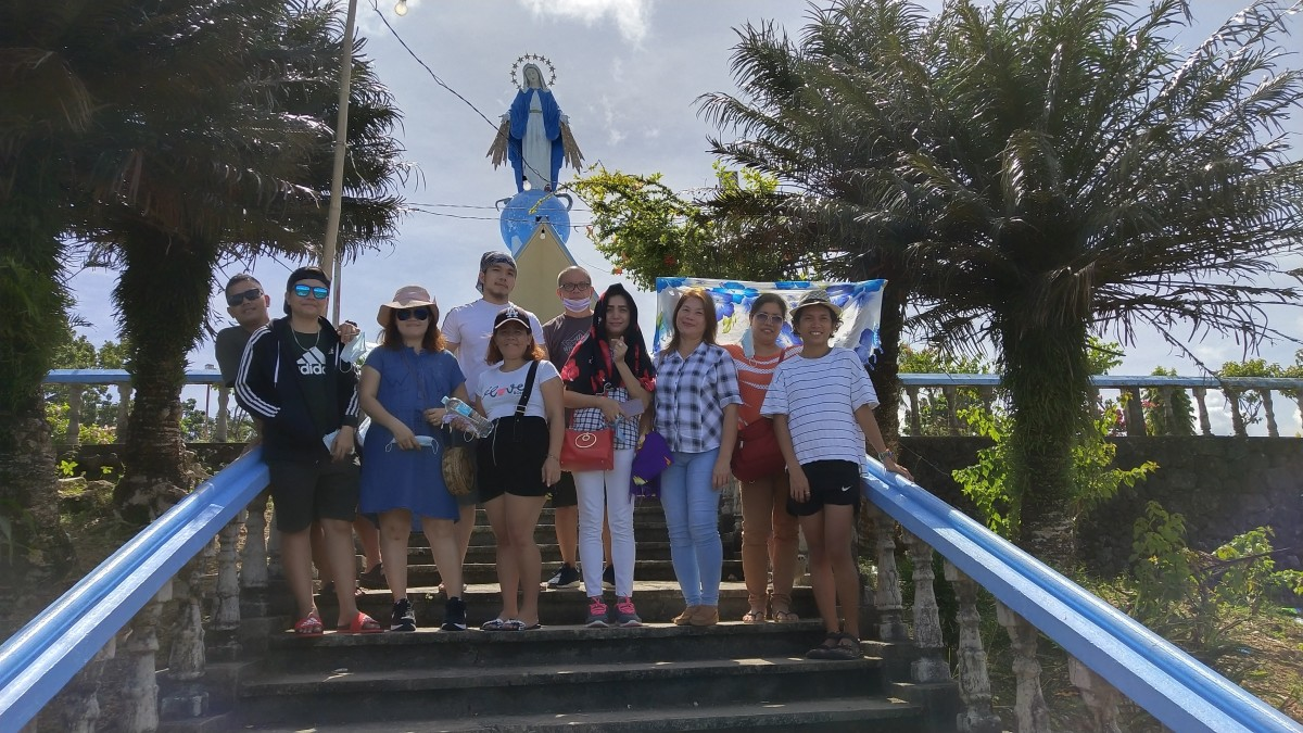 Me and Relatives at the Shrine of Our Lady of Miraculous Medal