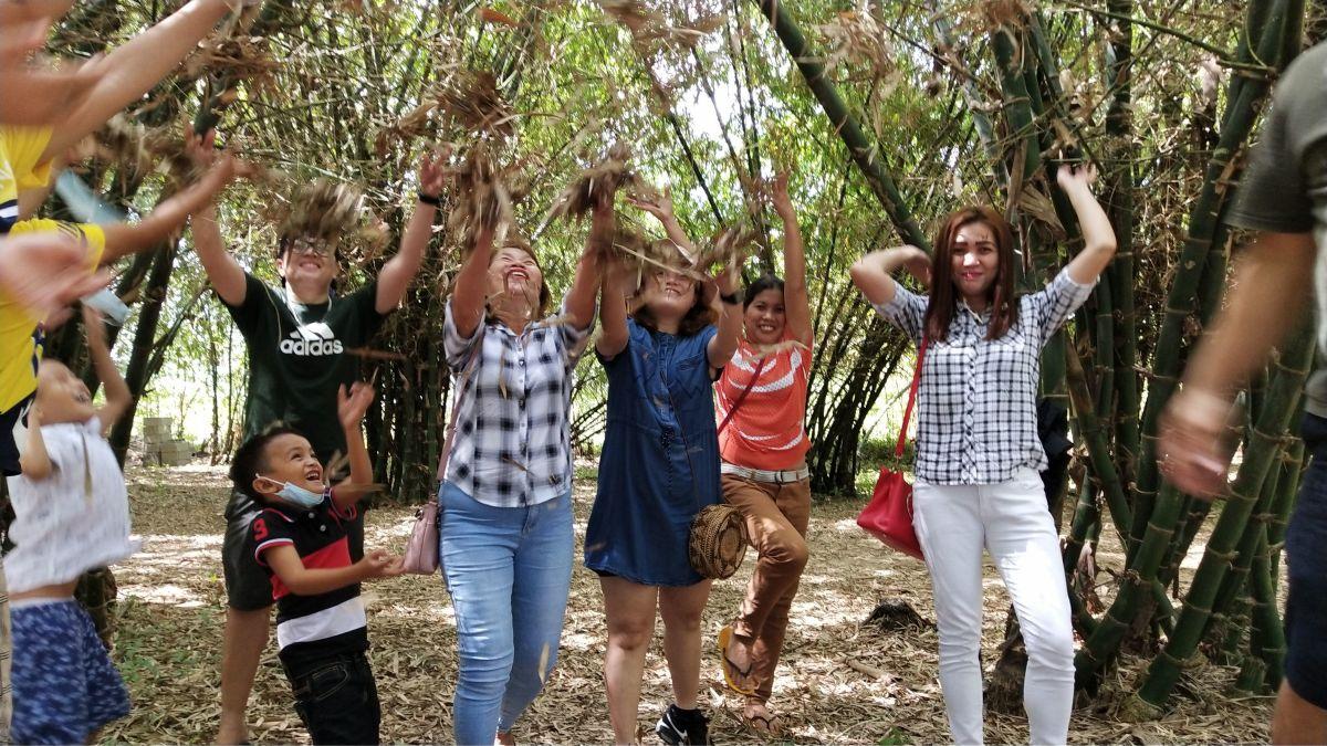 Having Fun in Bamboo Farm Medellin