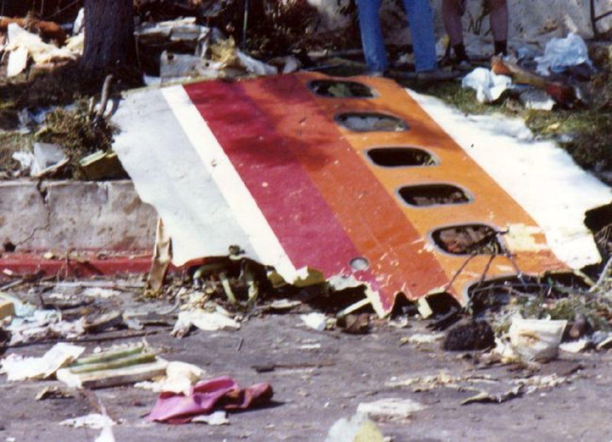 Wreckage of PSA Flight 182