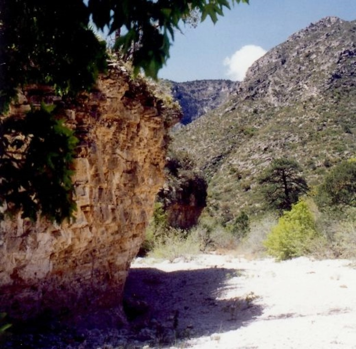 Hiking the 6.8 mile round trip to the Grotto and Hunter Cabin in McKittrick Canyon / Guadalupe Mountain National Park