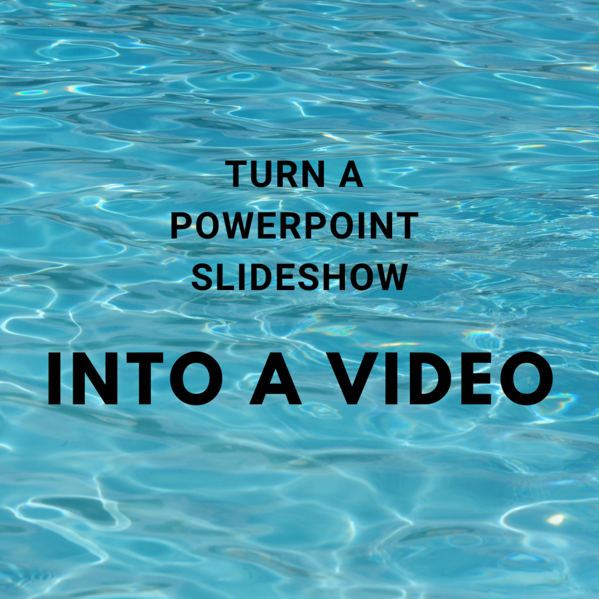 I'll show you how to create a video from your PowerPoint slideshow