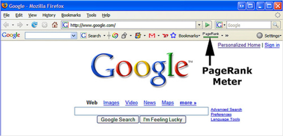 Google Toolbar with PageRank Meter