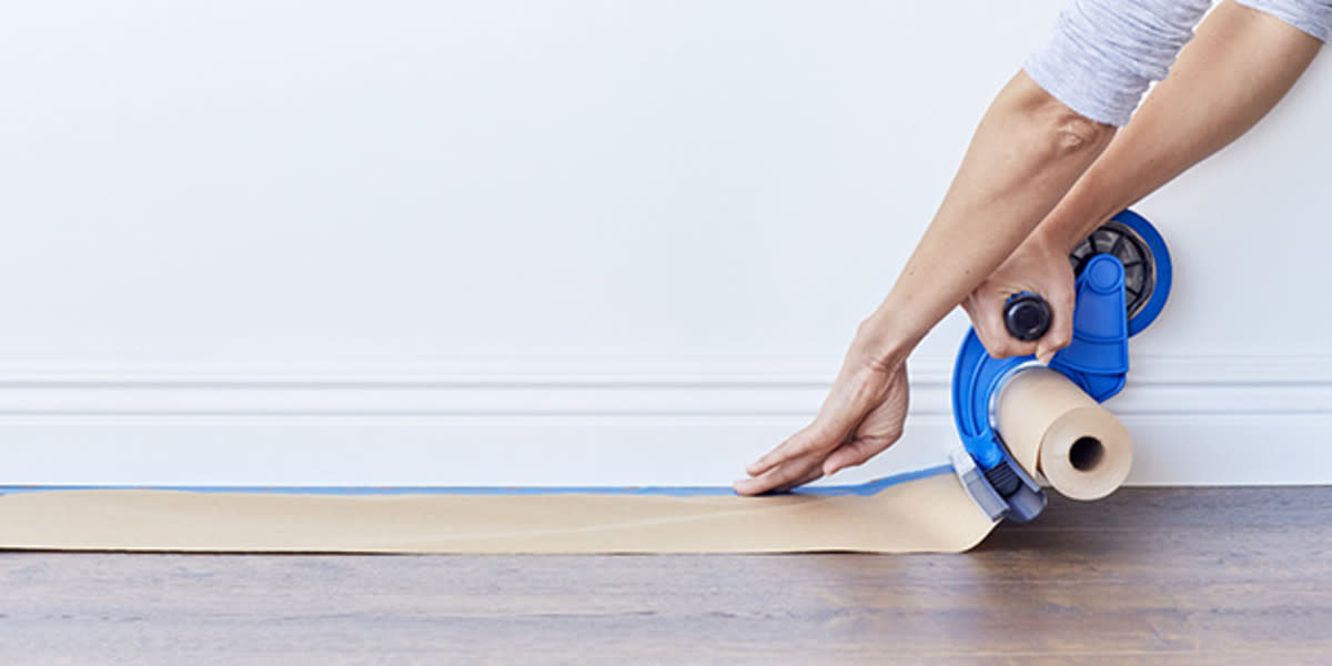 Always protect the floor when you paint the trim.