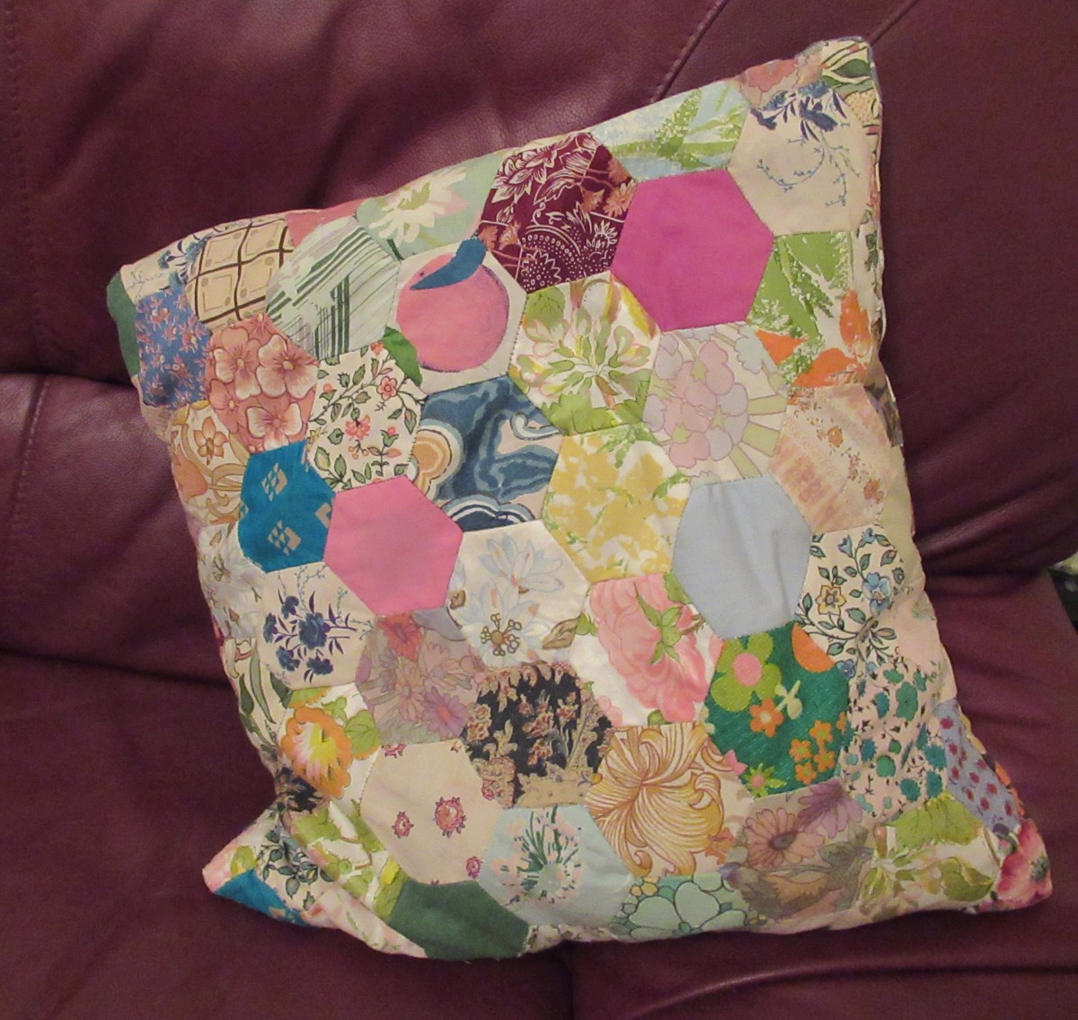 Family History in an Object: Patchwork Cushion of Family Fabrics and Furnishings for the Famous