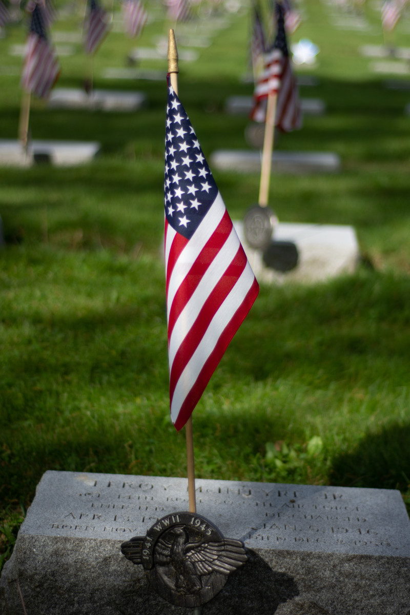 Union Dale Cemetery During Memorial Day