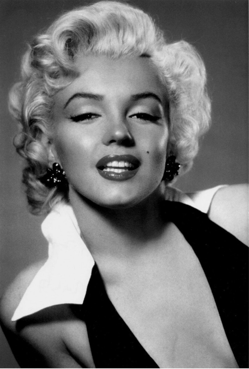 Marilyn Monroe had high arched brows in the 50s.
