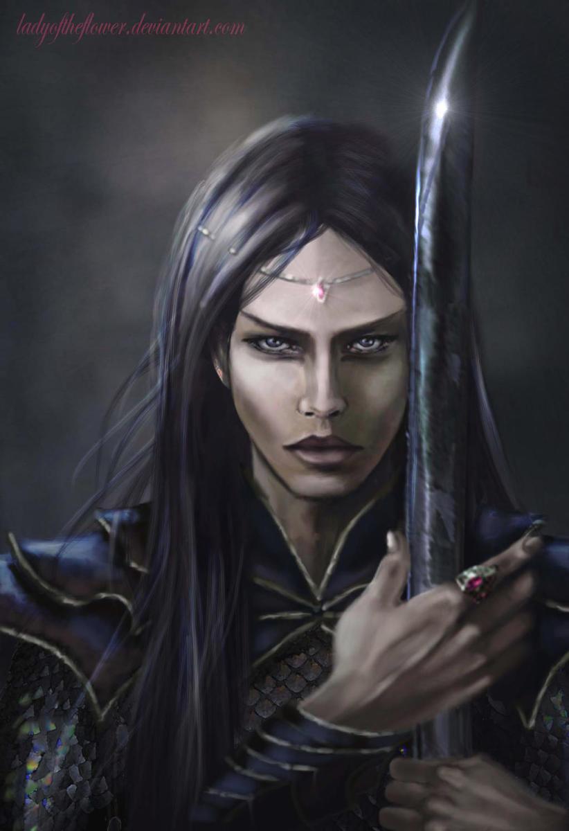 Maeglin Lomion and the Black Sword - Evil in Arda- by SaMo-art