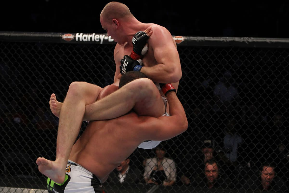 Stefan Struve is tied with Magnus Cedenblad and Christian Colombo for the longest leg reach in UFC history.