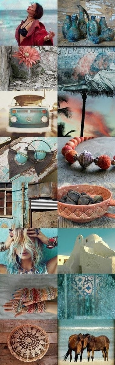 Altering your thoughts may be labor intensive and seem chaotic. To make your desired pattern more plain to your mind, try building a mood board or collage similar to this one. This hints at a lifestyle without saying a word.