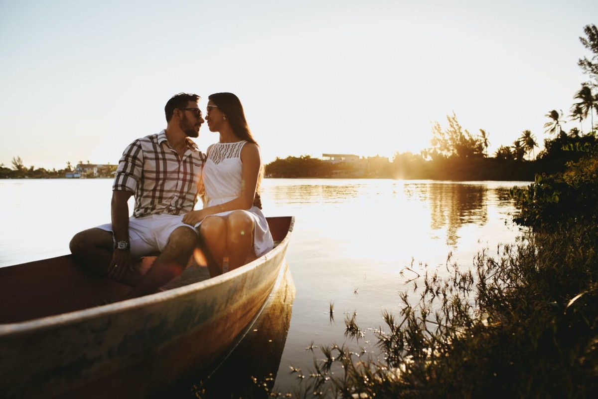 A romantic rowboat ride is hard to beat.