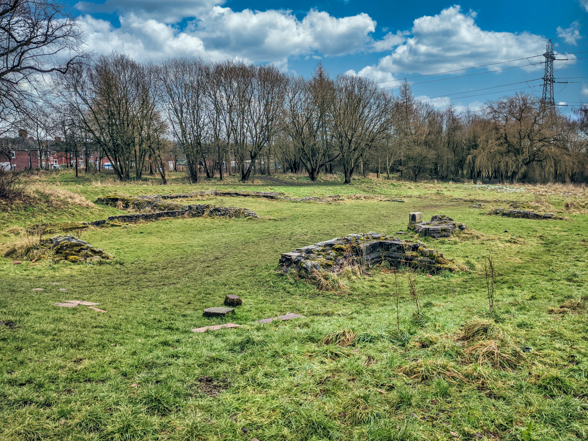 The site of the 13th century ruin of Hulton Abbey