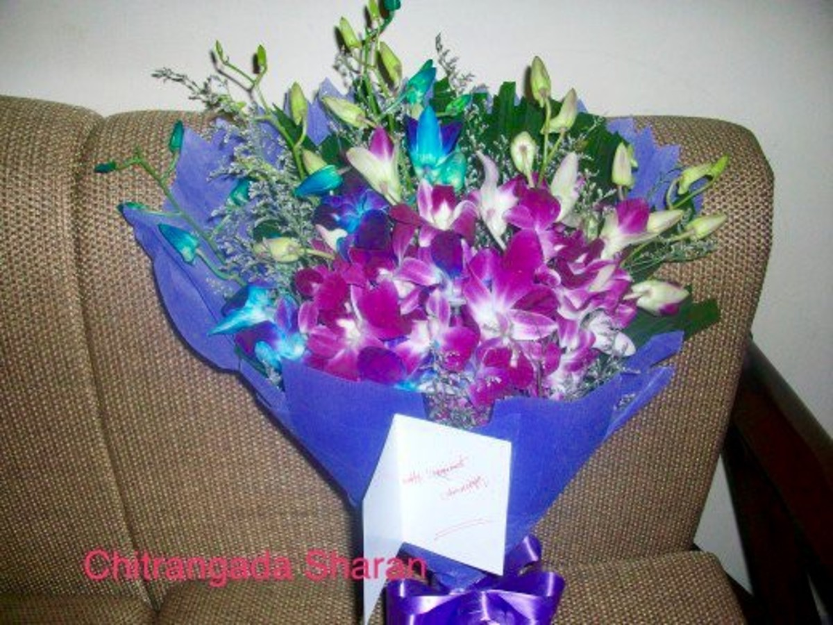 Flowers are the best way to express your love: A bouquet of Orchids