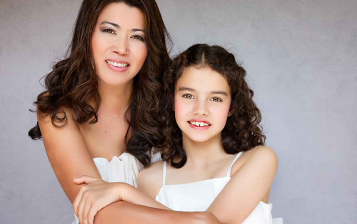 Lovely bond of mother and daughter