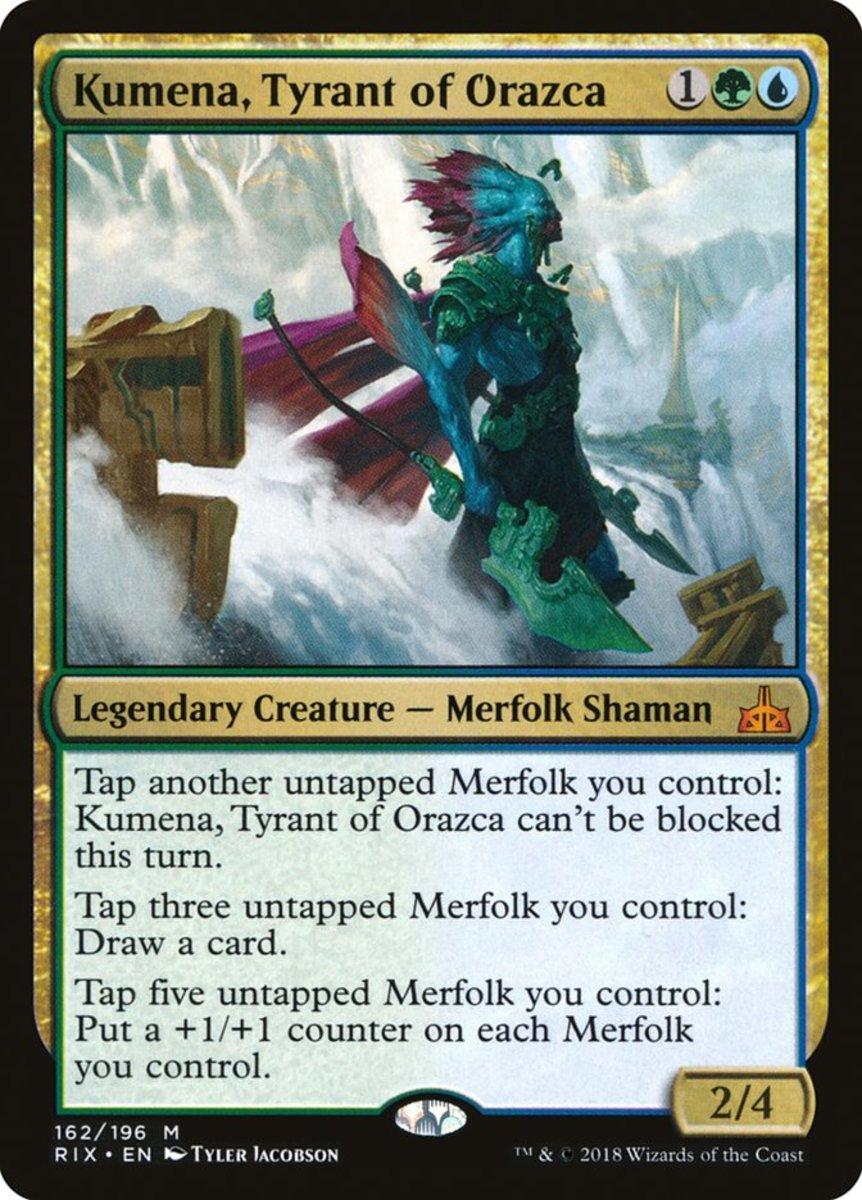 Kumena, Tyrant of Orazca mtg