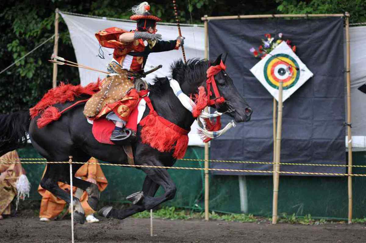 Modern day practitioner of the samurai mounted archery.