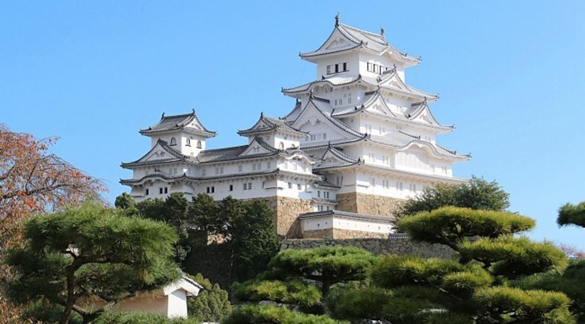 Himeji Castle, an example of a samurai castle.