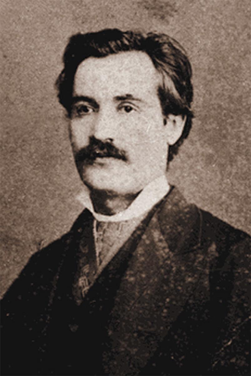 Portrait of Mihai Eminescu in mid-life.