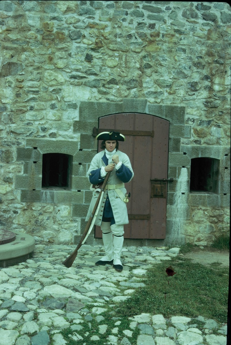 18th Century French Soldier on duty.