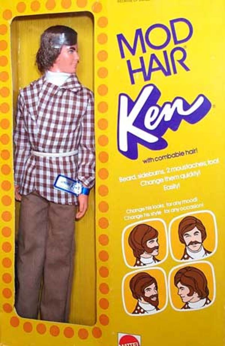 With Combable Hair! The Ken doll signified Mod had become too mainstream.