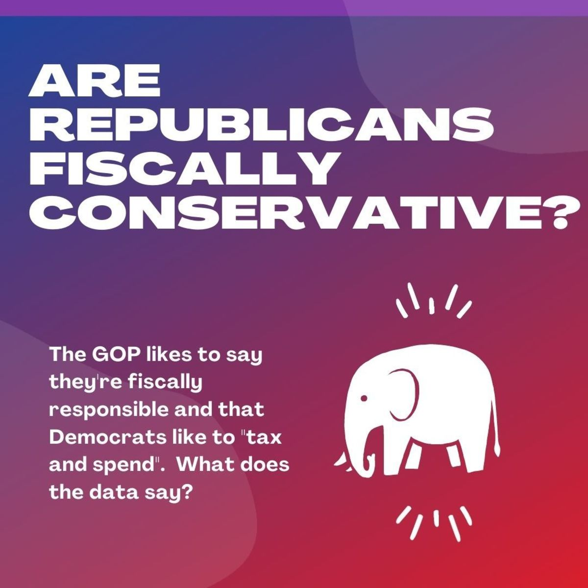 "The GOP likes to say they're fiscally responsible and that Democrats like to ""tax and spend"".  But what does the data say?"