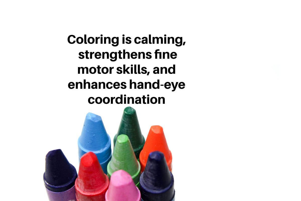 Parents should never underestimate the therapeutic effects of coloring.