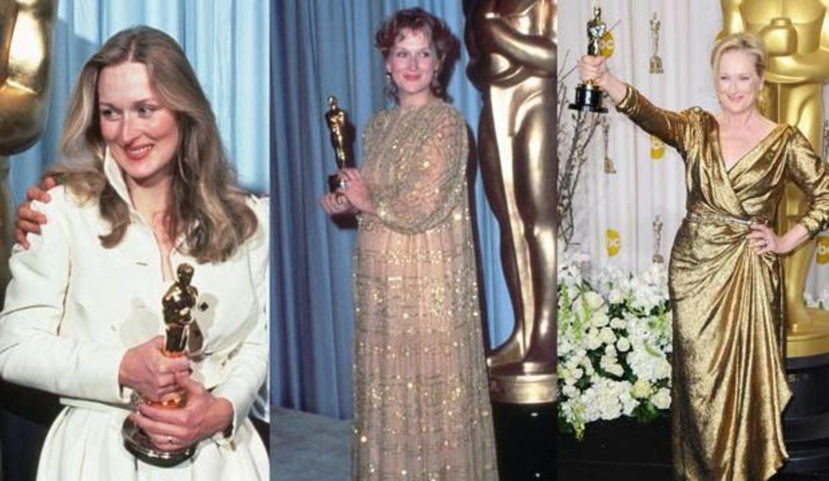 Meryl Streep and her 3 Oscar wins.