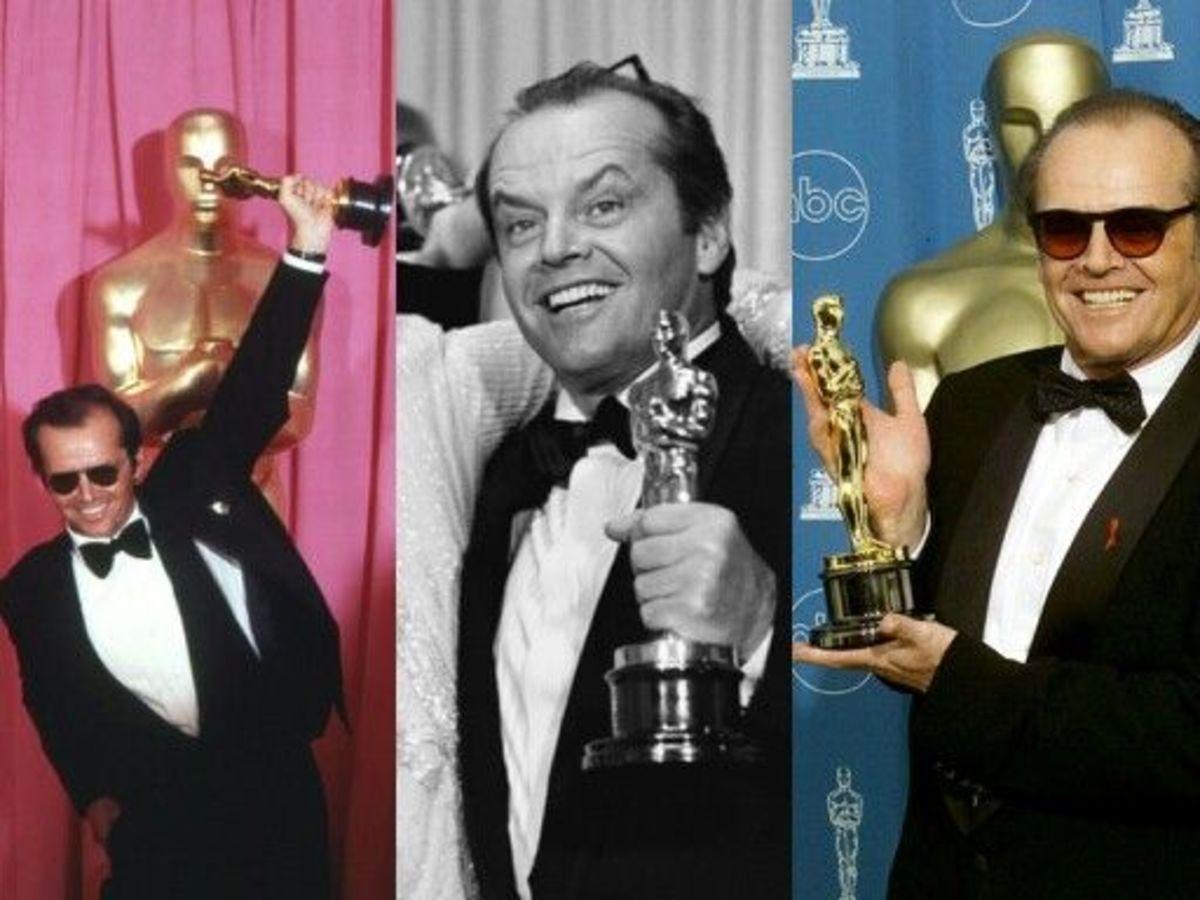 Jack Nicholson and his 3 Oscar wins.