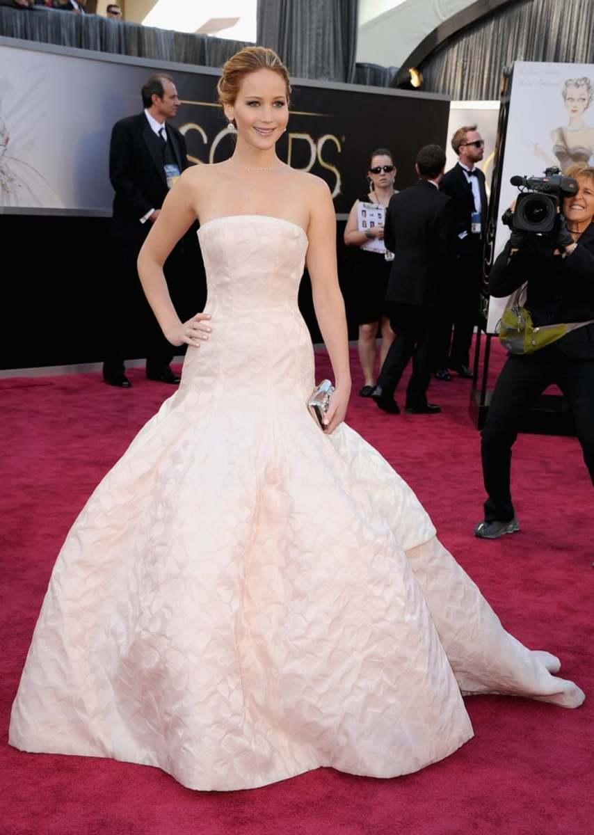 Jennifer Lawrence at the 2013 ceremony.