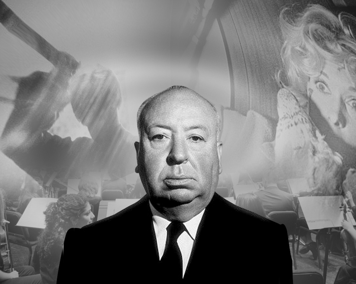 Renowned actor Alfred Hitchcock.
