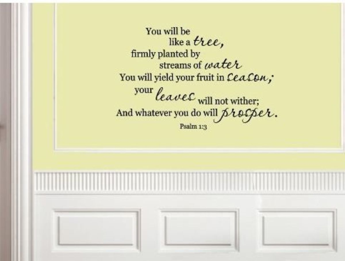Bible Verse Scripture Wall Quote