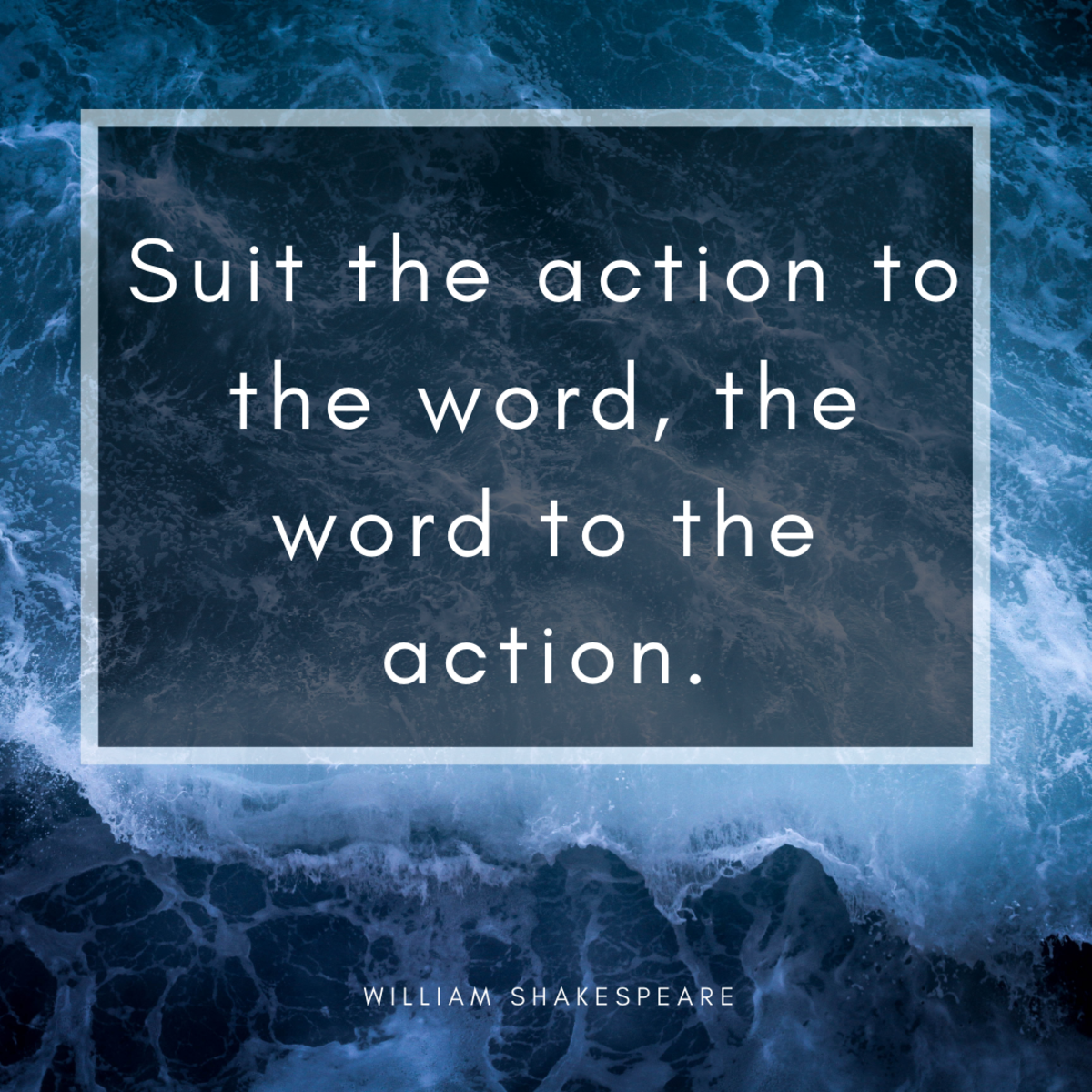 Matching action to words can be a lifelong endeavor.