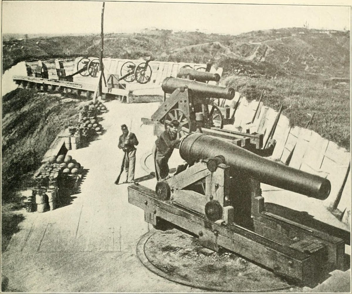 Heavy artillery pieces that were used by the Union in order to force the besieged city of Vicksburg to surrender.