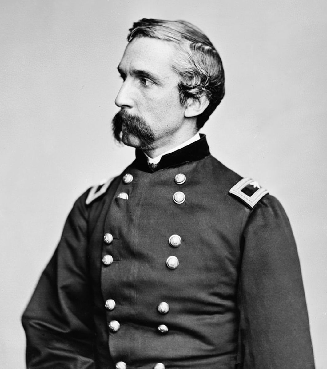 Colonel Joshua L. Chamberlain commander of the 20th Maine who save the day for the Union army at Gettysburg July 2,1863.