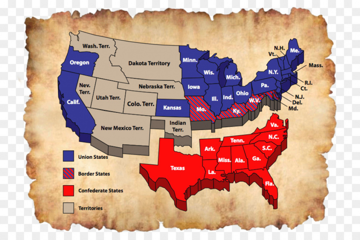 Confederate States of America 1861-1865.The Confederacy consisted of eleven southern states who's economy was based primarily on agriculture, mostly cotton production, that relied upon slaves of African descent for labor.