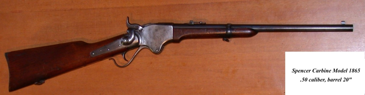 The Spencer Carbine was used mainly by Union Cavalry. It was one of the first weapons designed to take metal cartridges.