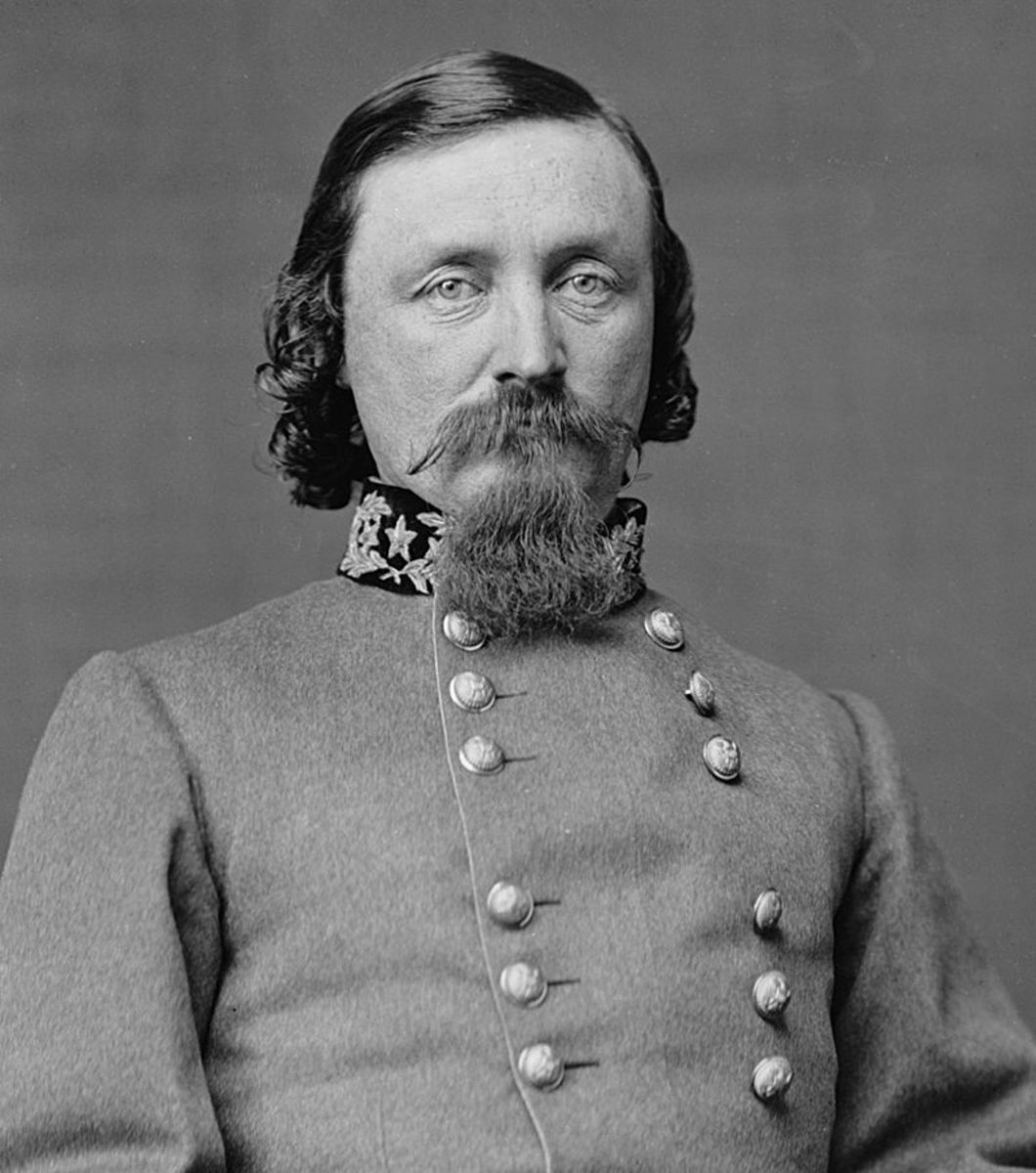 Confederate major general  George Pickett who's division was almost wiped out on the last day of battle at Gettysburg.  (January 16, 1825 – July 30, 1875) Abraham Lincoln's influence helped get him into West Point.