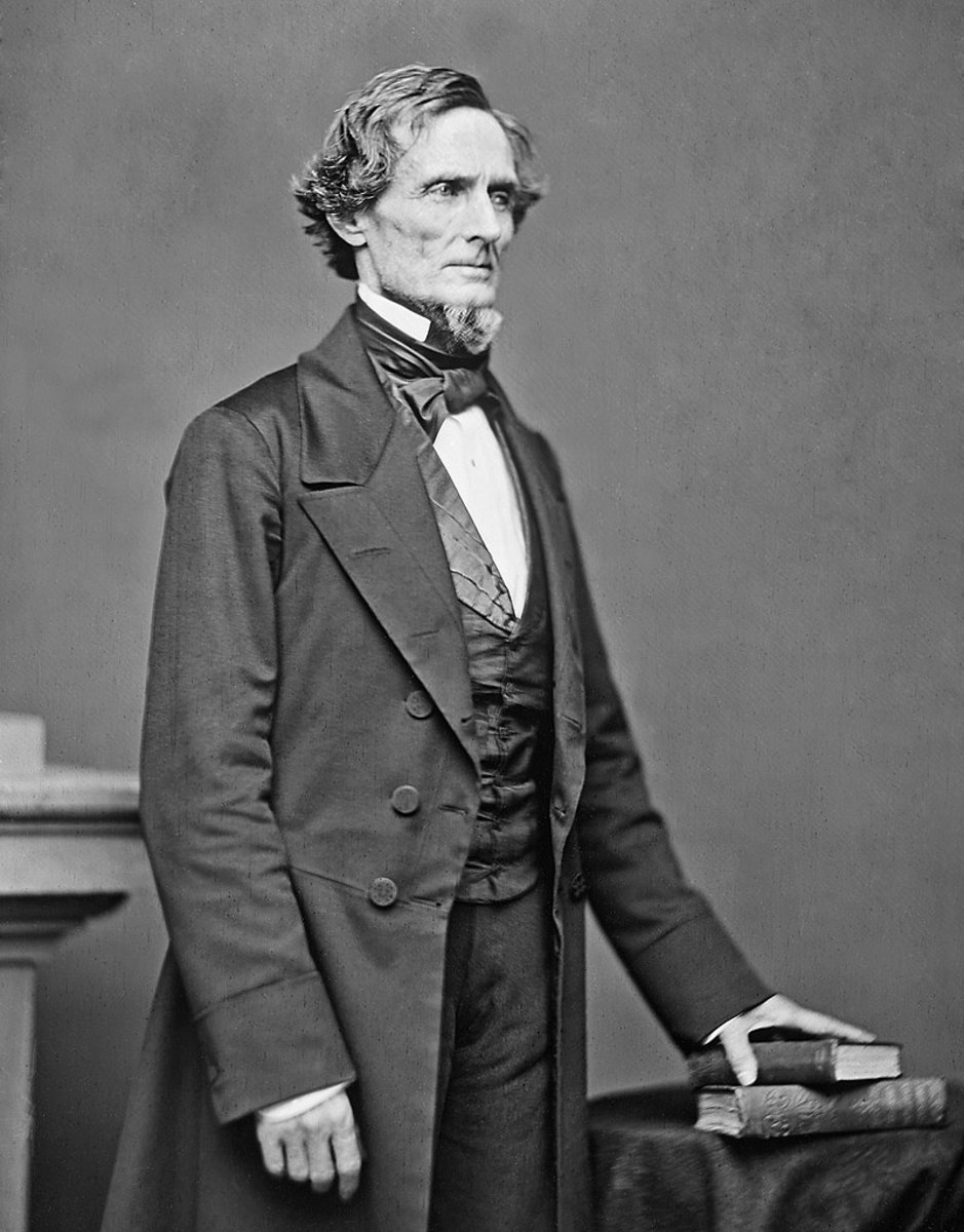 Jefferson Davis, President of the Confederacy from 1861 to 1865.