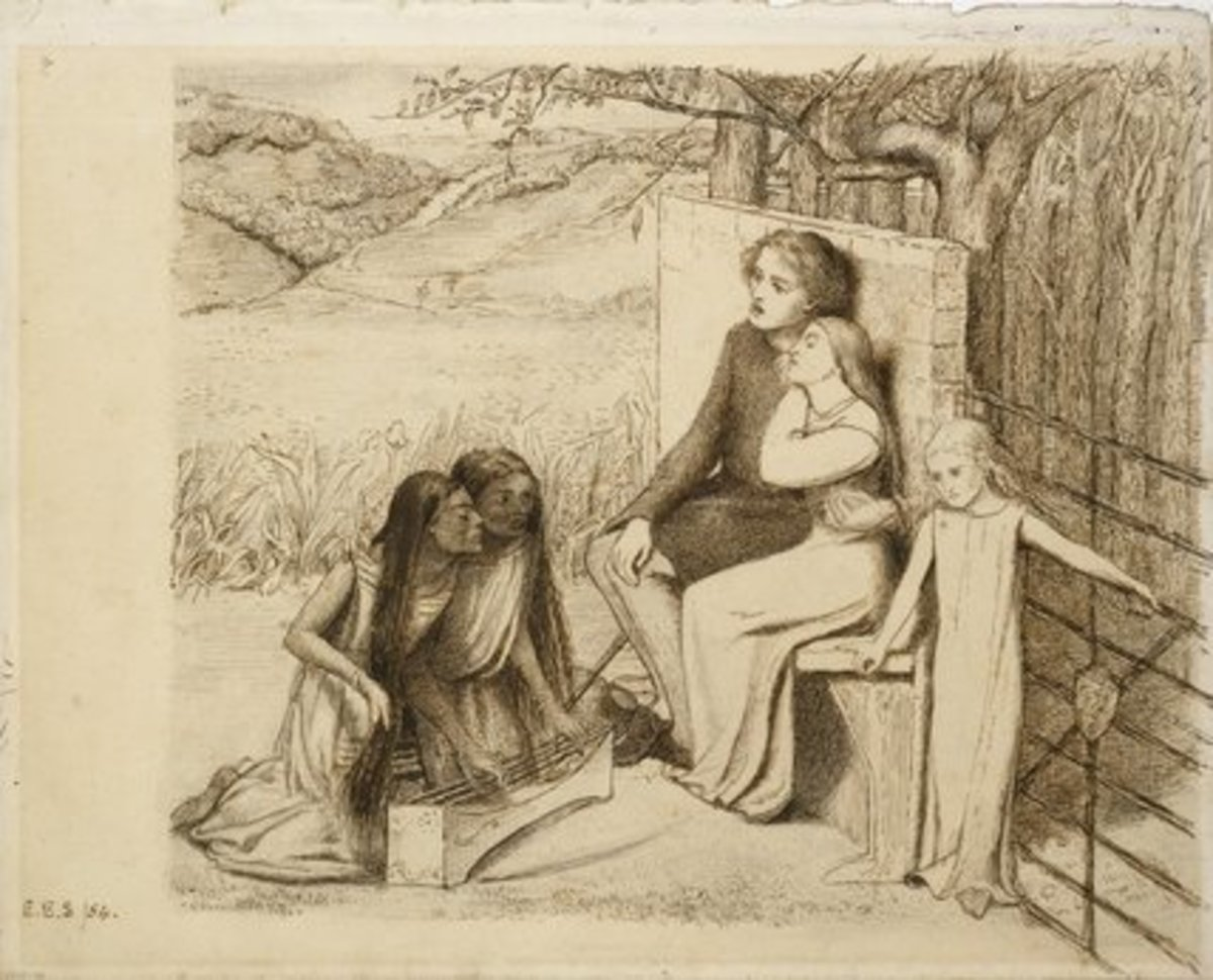 Two Lovers by Elizabeth Siddal 1854