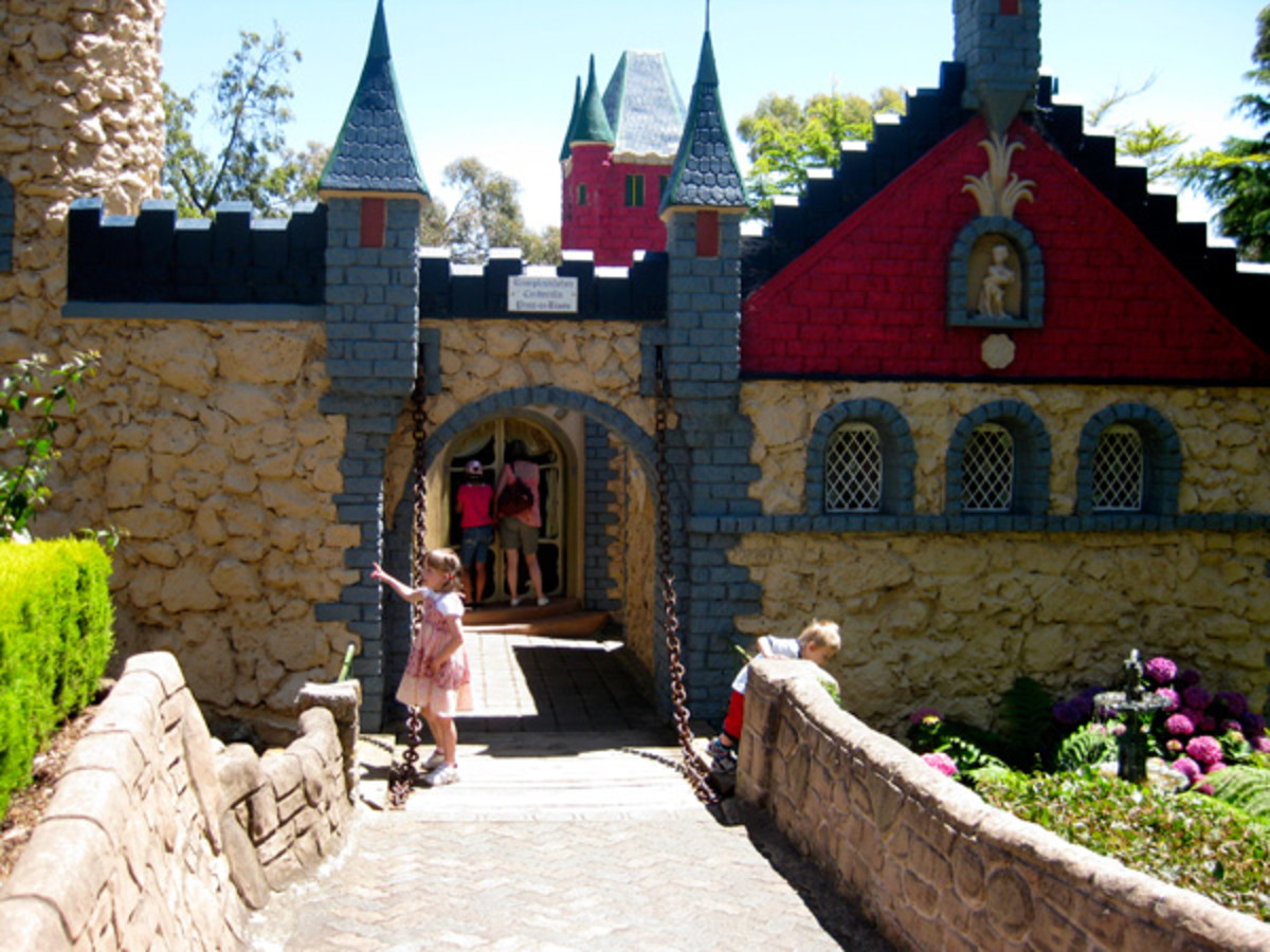 All of the fantastical buildings at fairy park contain fairy tales for children that come to life at the press of a button.
