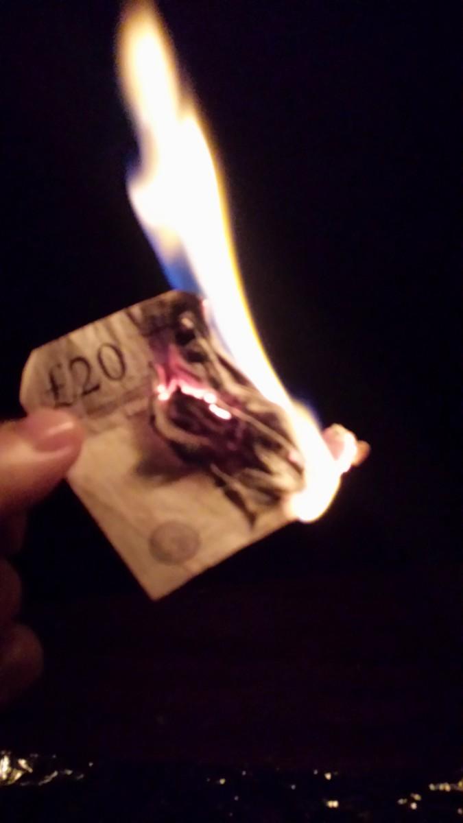 money-burning