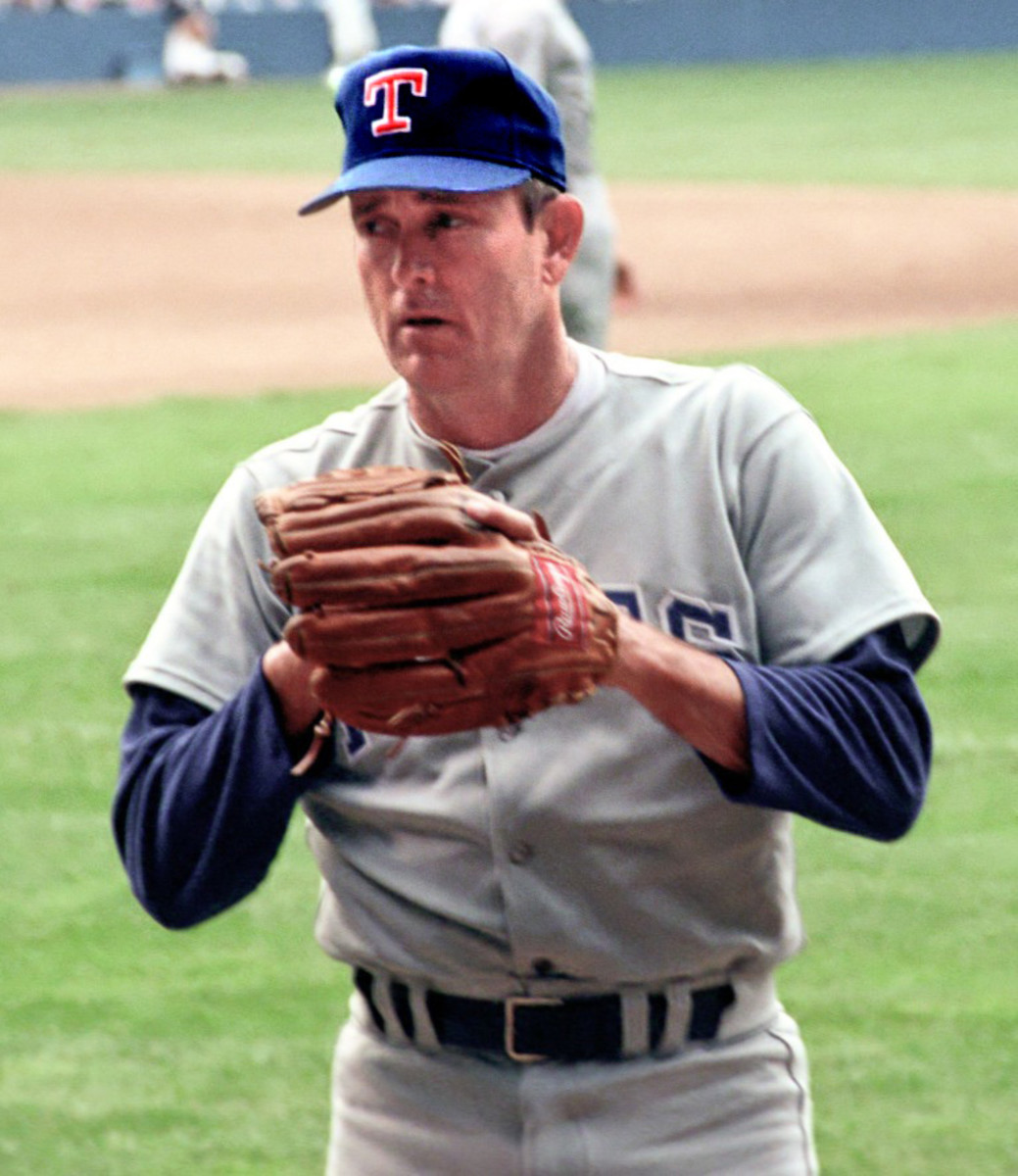 Nolan Ryan was the undisputed king of strikeouts during the 1980s and took that talent to the Texas Rangers for the final season of the decade.